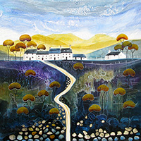 Bean Valley Cottages. An Open Edtion Print by Anya Simmons.