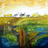 Golden Hill Farm. An Open Edtion Print by Anya Simmons.