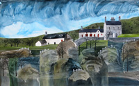 Hidden Gem, Anglesey. A mixed media original by Anya Simmons.