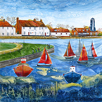 Langstone Harbour, Hampshire. An Open Edition Print by Anya Simmons.