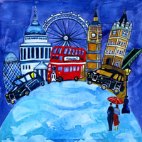 London World 3. An Open Edition Print by Anya Simmons.