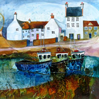 Memories of Crail. An Open Edtion Print by Anya Simmons.