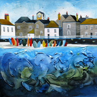 Mousehole. An Open Edtion Print by Anya Simmons.