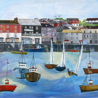 Padstow Harbour. An Open Edition Print by Anya Simmons.