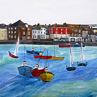 Padstow Harbour 2, Cornwall. An Open Edition Print by Anya Simmons.