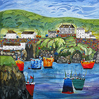Port Isaac, Cornwall. An Open Edition Print by Anya Simmons.