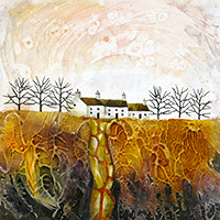 Root Valley Farm. A mixed media original by Anya Simmons.