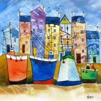 Tug Boats 1. An Open Edtion Print by Anya Simmons.
