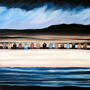 Beach Hut Heaven 6. An Open Edtion Print by Anya Simmons.