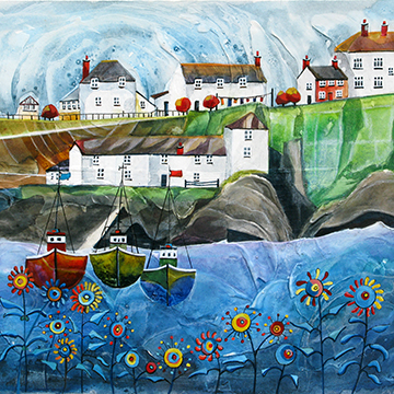 Port Isaac 2. An open edition print by Anya Simmons.